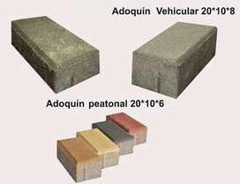 Adoquin vehicular peatonal ( gris- ocre-rojo)