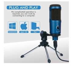 Micrófono USB,  de computadora Podcast Condensador Grabación Vocal para YouTube Gaming Streaming