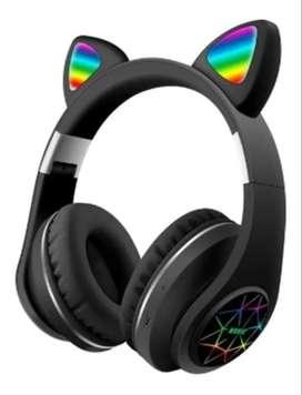 Audífonos/diadema Bluetooth Fm Micro Orejas De Gato M2