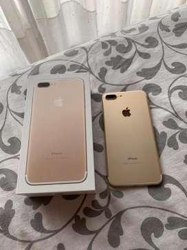 Iphone dorado 7 plus  usado