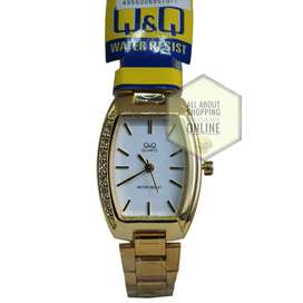 Reloj Análogo Q & Q Q873J201Y Dorado Blanco Dama