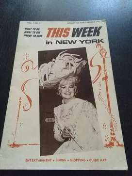 Antigua guía de espectáculos nueva York 1967 Broadway shows en ingles