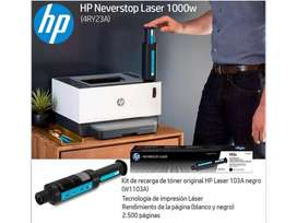 Impresora Laser Hp 1000w SOLO IMPRIME B/N + OBSEQUIO PAPEL