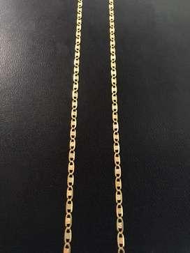 Cadena 3 oros italiana de 18k garantizada
