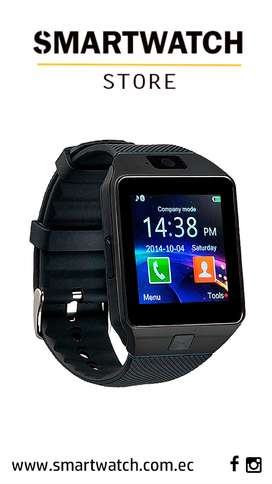 Smartwatch DZ09 con Bluetooth Cámara SIM Llamadas