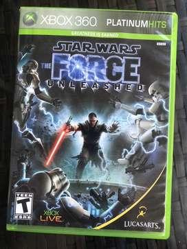 STAR WARS The force unleashed oroginal XBOX 360 juego usado