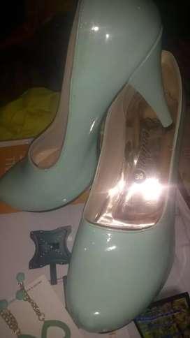 Zapato dama Verde menta