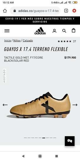 Guayos Adidas x 17.4 terreno flexible