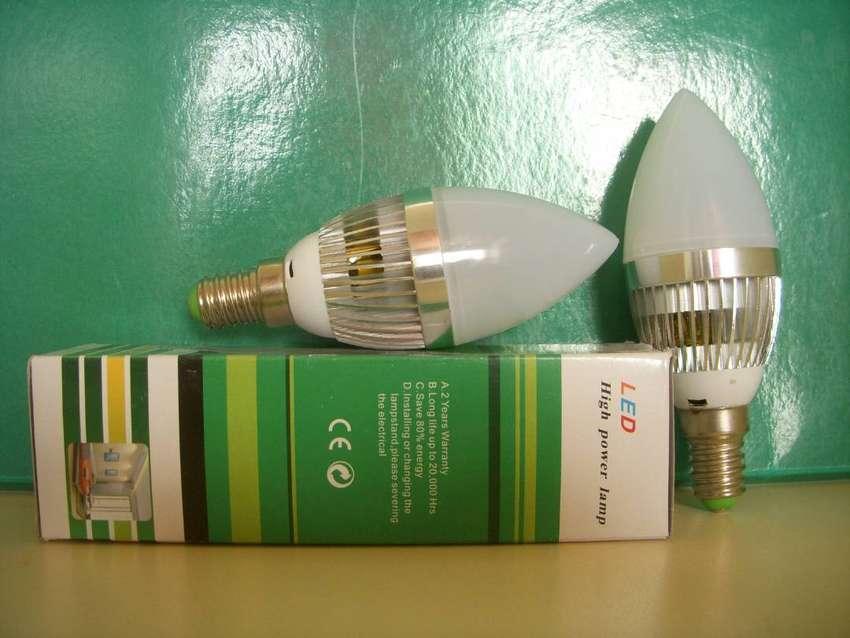 Lámpara de Led Dimerizable, Rosca E 14/miñon Tipo Velita, blanca 0
