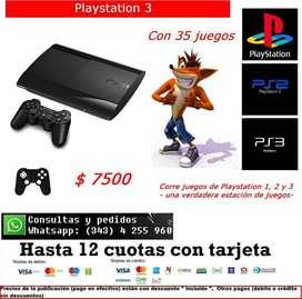Playstation 3 con 35 juegos incluidos