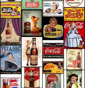 carteles de chapa vintage retro cuadros decorativos