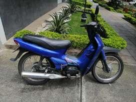 Vendo moto crypton azul
