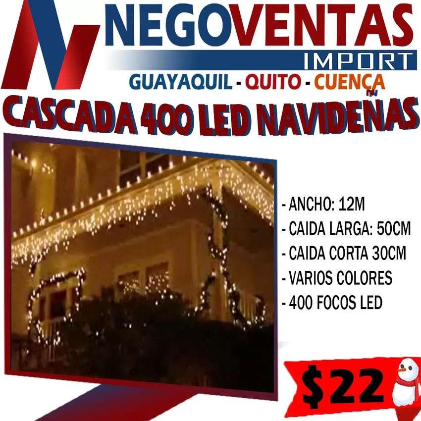 CASCADA  NAVIDEÑAS DE 400 LED DE 12 METRO FOCOS EN VARIEDAD DE COLORES, BLANCO,CALIDO Y MULTICOLOR 0