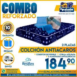 !!! COLCHONES PROMOCIONES !!! COLCHÓN CHAIDE RESIFLEX 2 Plz Mas EDREDÓN Mas COBIJA Mas ALMOHADAS !!* ENTREGA GRATIS *!!