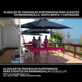 ALQUILER DE PARASOLES SUSPENDIDOS