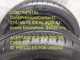 Neumaticos continental ContiPremiumContac 215/45r16