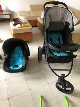 Coche Infanti Azul Travel System