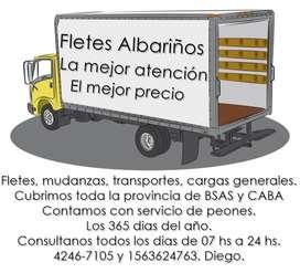 Fletes, mudanzas, transportes, cargas generales.