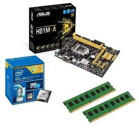 Combo Board Asus H81m-A, i3-4160 3.6GHz, RAM 2x 4GB DDR3