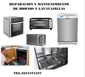 Reparación y mantenimiento de hornos y lavavajillas