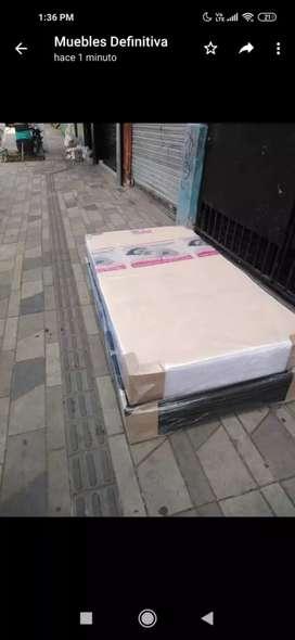 Base cama colchones