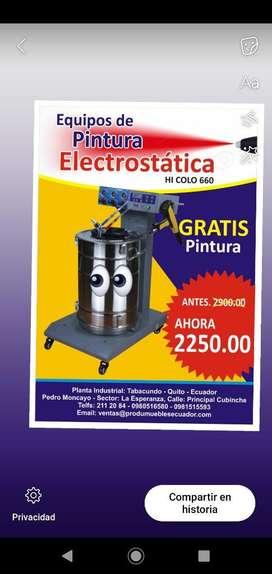 Equipo de Pintura Electrostática