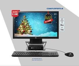 HP Prodesk 600 G1 MINI Core I7 Con Monitor 22