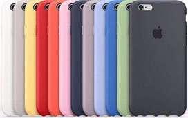 Funda Siliconada Afelpada Para Iphone 6 - 6 Plus en Blister