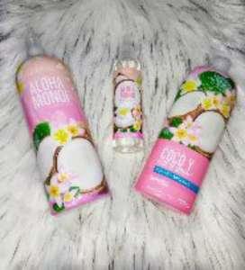 Shampoo y crema corporal aloha y monoi Avon