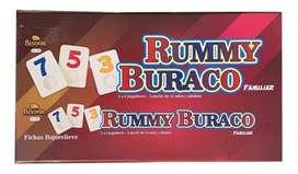 RUMMY Y BURACO FAMILIAR BISONTE CON FICHAS BAJO RELIEVE