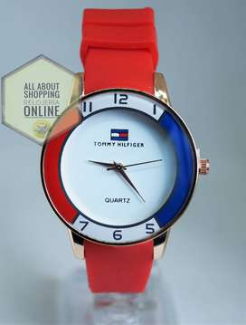 Relojes Tipo Tommy Hilfiger Análogos Pulso Goma Unisex