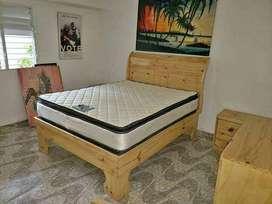 fabrico camas y veladores en guayacan blanco