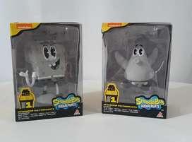 Figura de Bob Esponja y Patricio Retro - Nickelodeon