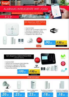 Alarma inteligente TUYA SMART HIGHTEK Antirrobo WiFi GSM SMS Inalambrica teclado touch Casa Oficina Negocio Guayaquil.