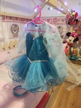 Disfraz Elsa talla 2 ( para niñas de 1 a 2 años )