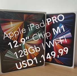 "Apple iPad PRO 12.9"" Chip M1 2021 128Gb Wi-Fi SILVER Nuevos Garantía!"