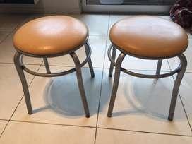 Banqueta silla redonda tapizada caño