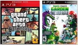 Ps3 Gta San Andreas , Plantas vs Zombies