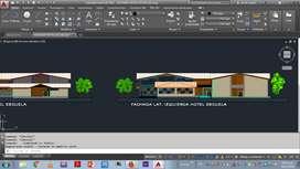 Planos arquitectonicos, instalaciones, fachadas, entre otros