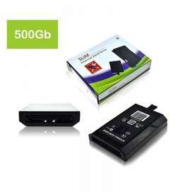 disco duro 500gb xbox 360 rgh 5.0 con muchos regalos