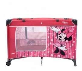 Usado, Corral priopi Disney cuna Minnie 2 niveles. 1 año de uso. segunda mano  La Estrella