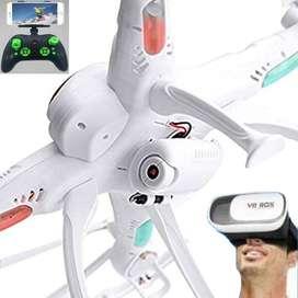 Drone MULTIFUNCIÓN NUEVO c/ ALTURA ESTABLE C/ Cámara HD WiFi FPV c/ HEADLESS Vista 3D en Vivo en Lentes Virtuales y Celu
