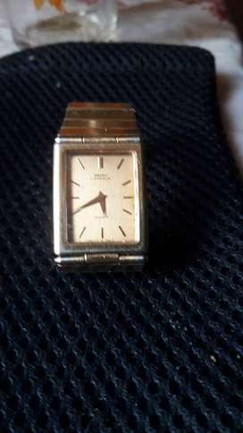 Reloj seiko lassalle cuarzo vintage dama ultra delgado, enchape oro original,reloj de colección.
