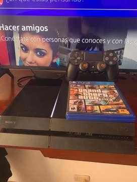 PS4 fat 500 gb control 2 gen mas GTA