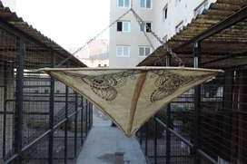 Lampara  marroquí de cuero de camello