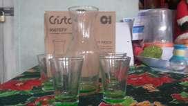 Set Fiesta Jarra Copas Cristal