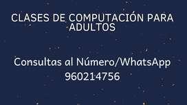 Clases de Computación para adultos.
