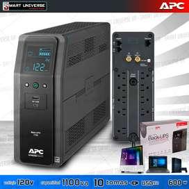 Ups Regulador Apc 1100va 600w 120v 10 Tomas 2 usb 1.1Kva LCD