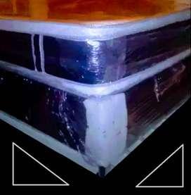 colchón clinico resortado con o sin base cama