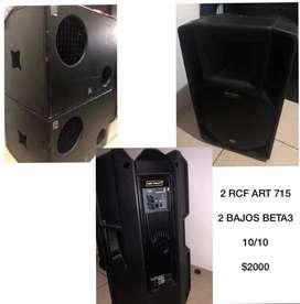Cajas amplificadas RCF y bajos BETA3